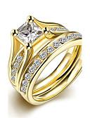 preiswerte Hochzeit Schals-Damen Bandring Ring Verlobungsring - Titanstahl Simple Style, Modisch, Brautkleidung 6 / 7 / 8 / 9 Gold Für Weihnachts Geschenke Hochzeit Party / Ringe Set
