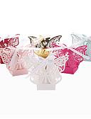 baratos Blusas Femininas-Redonda Quadrada Outros Papel Pérola Suportes para Lembrancinhas com Fitas Estampado Caixas de Ofertas