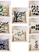 cheap Women's Dresses-8 pcs Cotton / Linen Pillow Cover / Pillow Case, Novelty / Animal / Fashion Vintage / Casual / Retro
