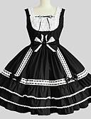 povoljno Maske za mobitele-Princeza Gothic Lolita Haljine JSK / Jumper suknja Žene Djevojčice Japanski Cosplay Kostimi Crn Jedna barva Bez rukávů Do koljena / Petticoat
