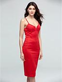 preiswerte Damen Kleider-Damen Bodycon Kleid - Gespleisst, Solide Midi Gurt Hohe Hüfthöhe