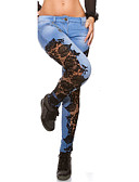 ieftine Pantaloni de Damă-Pentru femei Maternitate Bumbac Blugi Pantaloni Dantelă