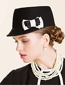 baratos Chapéus de Moda-Lã Chapéus com 1 Ocasião Especial / Casual / Ao ar livre Capacete