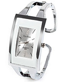cheap Quartz Watches-Women's Ladies Fashion Watch Unique Creative Watch Square Watch Quartz Silver Rhinestone Imitation Diamond Analog Casual Bangle - White One Year Battery Life / SSUO LR626