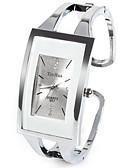 Недорогие Монокини-Жен. Дамы Модные часы Уникальный творческий часы Квадратные часы Кварцевый Серебристый металл Стразы Имитация Алмазный Аналоговый На каждый день Кольцеобразный - Белый Один год Срок службы батареи