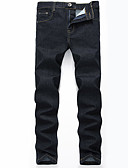 cheap Men's Exotic Underwear-Men's Plus Size Cotton Skinny / Slim / Jeans Pants - Solid Colored