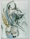 رخيصةأون فساتين للنساء-هانغ رسمت النفط الطلاء رسمت باليد - تجريدي أنيقة & حديثة كنفا