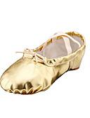 Χαμηλού Κόστους Αξεσουάρ Χορού-Γυναικεία Παπούτσια μπαλέτο Φο Δέρμα Χωρίς Τακούνι Επίπεδο Τακούνι Μη Εξατομικευμένο Παπούτσια Χορού Χρυσό / Ασημί / Κόκκινο / Εσωτερικό