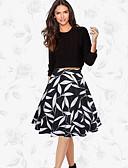 זול חצאיות לנשים-דפוס חצאיות ליציאה נדנדה בגדי ריקוד נשים