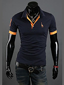 cheap Men's Tees & Tank Tops-Men's Active Plus Size Cotton Slim Polo - Solid Colored Shirt Collar / Short Sleeve