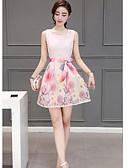 رخيصةأون فساتين للنساء-قصير جداً طباعة, تصميم - فستان غمد أنيقة & حديثة للمرأة