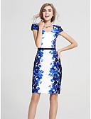 baratos Vestidos de Mulher-Mulheres Tamanhos Grandes Trabalho Reto Bainha Vestido Floral