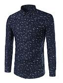 cheap Men's Shirts-Men's Plus Size Cotton Shirt - Geometric