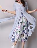 olcso Print Dresses-Női Parti / Alkalmi Ízléses Hüvely Ruha - Nyomtatott, Virágos Térdig érő