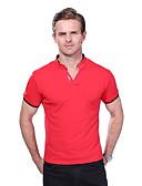 preiswerte Herren Polo Shirts-Herrn Solide Buchstabe Übergrössen Baumwolle Polo