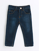 cheap Boys' Clothing-Boys' Solid Jeans, Cotton Spring Fall Blue