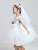 رخيصةأون طرحات الزفاف-Two-tier Cut Edge الحجاب الزفاف طرح القربان مع زينة تول / كلاسيكي