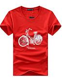 cheap Men's Shirts-Men's Active Plus Size Cotton T-shirt - Graphic Stylish / Print Round Neck / Short Sleeve
