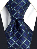 cheap Men's Ties & Bow Ties-Men's Party / Work / Basic Necktie - Color Block / Check / Jacquard Basic