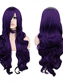 cheap Women's Bottoms-Synthetic Wig Curly Synthetic Hair Purple Wig Women's Long Capless