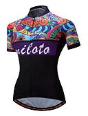 cheap Fashion Belts-Miloto Women's Short Sleeve Cycling Jersey - Black Bike Jersey, Reflective Strips Polyester, Spandex