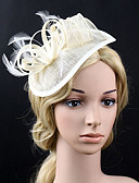 cheap Wedding Veils-Feather Net Fascinators Flowers 1 Wedding Special Occasion Party / Evening Headpiece