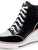 זול שמלות נשים-בגדי ריקוד נשים נעליים Paillette / סוויד סתיו / חורף מגפיים אופנתיים נעלי ספורט פלטפורמה / עקב טריז בוהן עגולה / בוהן סגורה נצנצים /