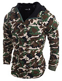 cheap Men's Downs & Parkas-Men's Daily Solid Colored Regular Padded, Cotton Long Sleeve Army Green / Light gray L / XL / XXL