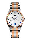 cheap Dress Watches-SKMEI Men's Wrist Watch Japanese Calendar / date / day / Water Resistant / Water Proof / Cool Stainless Steel Band Dress Watch Multi-Colored