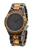 cheap Luxury Watches-Redear Wood Watch Emitters Wooden Brown black / Stainless Steel / Japanese / Japanese
