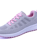 ieftine Rochii Plus Size-Pentru femei Pantofi Tul Primăvară Toamnă Tălpi cu Lumini Adidași de Atletism Alergare Toc Drept Vârf rotund Dantelă pentru Casual Alb