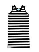preiswerte Kleider für Mädchen-Mädchen Kleid Gestreift Baumwolle Sommer Ärmellos Streifen Schwarz