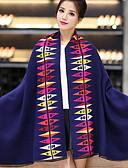 cheap Fashion Scarves-Women's Wool Rectangle Print
