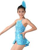 ieftine Ținute De Dans De Copii-Jazz Costume întregi Pentru femei Performanță Poliester Spandex Paiete Paiete Eșarfă / Panglică Fără manșon Înalt Leotard / Onesie