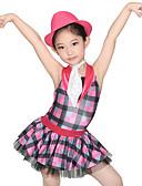 ieftine Ținute De Dans De Copii-Ținute de Dans Copii Rochii Pentru femei Performanță Spandex / Tulle / Paiete Straturi / Volane / Paiete Fără manșon Natural Rochie / Pantaloni scurți / Pălărie / Costum de Majoretă  / Dans modern