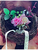 abordables Corsés y Strapless-Encaje / Flor Ratán Almohada de Anillo Tema Jardín / Tema Floral / Tema Fantástico