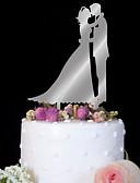 baratos Decorações de Bolo-Decorações de Bolo Aniversário Casamento Alta qualidade Plástico Casamento Aniversário Festa com 1 Bolsa PVS