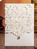 preiswerte Parykopfbedeckungen-Hülle & Taschenformat Hochzeits-Einladungen 20 - Einladungskarten Klassicher Stil Geprägtes Papier