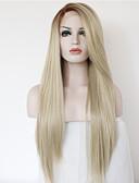 preiswerte Korsetts-Synthetische Lace Front Perücken Glatt Blond Synthetische Haare Gefärbte Haarspitzen (Ombré Hair) Blond / Braun Perücke Damen Lang Spitzenfront