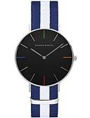 cheap Quartz Watches-Men's Ladies Wrist Watch Quartz Hot Sale Nylon Band Analog Casual Stripes Fashion Black / White / Blue - Blue / White Light Green White / Red One Year Battery Life / ETA 377A