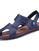 cheap Women's Dresses-Men's PU(Polyurethane) Spring / Summer Comfort Sandals Blue / Dark Brown