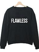 cheap Men's Hoodies & Sweatshirts-Men's Long Sleeves Long Sweatshirt - Letter Round Neck