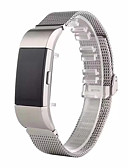 baratos Camisetas & Regatas Masculinas-Pulseiras de Relógio para Fitbit Charge 2 Fitbit Pulseira Esportiva Fecho Moderno Aço Inoxidável Tira de Pulso