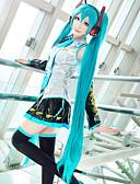 povoljno Zentai odijela-Cosplay Wigs Vocaloid Hatsune Miku Anime / Video Igre Cosplay Wigs 48 inch Otporna na toplinu vlakna Žene Halloween perika