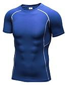 voordelige Damesleggings-Heren Strakke ronde hals Hardloopshirt - Rood, Groen, Blauw Sport T-shirt / Compressiekleding / Kleding Bovenlichaam Korte mouw / Rekbaar