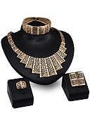 זול שמלות מקסי-בגדי ריקוד נשים שרשראות תליון נשים מותאם אישית אופנתי אבן נוצצת ציפוי זהב עגילים תכשיטים זהב עבור Party מסיבת ערב