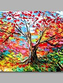 cheap Men's Shirts-Oil Painting Hand Painted - Landscape Artistic Modern / Contemporary Canvas