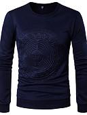 olcso Férfi pólók és pulóverek-Kerek Vékony Férfi Póló - Egyszínű / Hosszú ujj