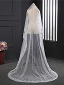 זול הינומות חתונה-שכבה אחת משרים כבויים הינומות חתונה עם אפליקציות טול