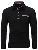 olcso Férfi pólók-Állógallér Férfi Pamut Polo - Egyszínű